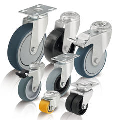 Light duty wheels and casters