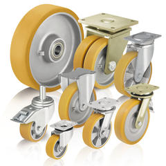 Heavy duty wheels and casters with cast polyurethane tread Blickle Extrathane®