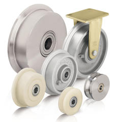 Flanged wheels and casters