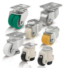Compact and levelling casters